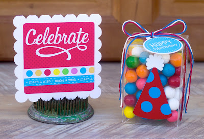 SRM Stickers Blog - Birthday Celebration by Corri - #birthday #card #box #clear boxes #gift set #gift #twine #stickers