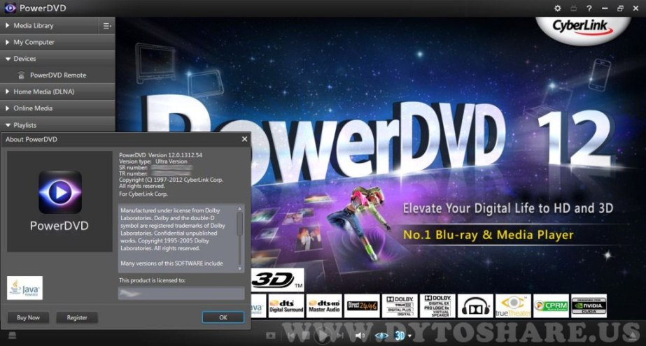 Cyberlink power dvd v8.0.1531.0