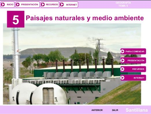 Tema 5. Paisaje Natural y Medio Ambiente en España