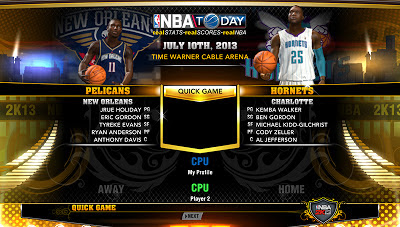 NBA 2K13 New Orleans Pelicans and Charlotte Hornets