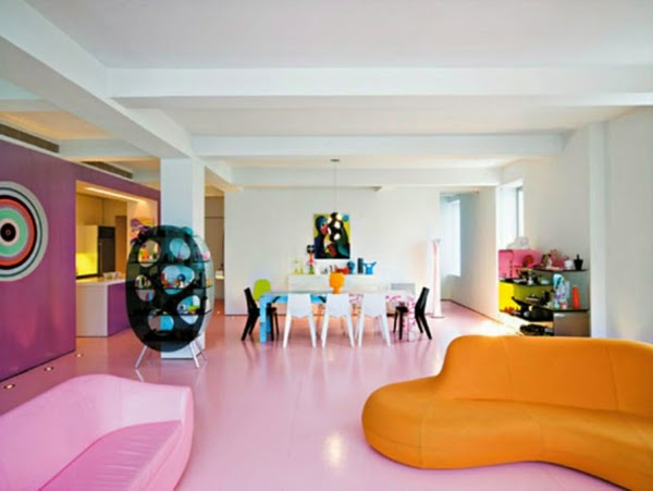Colorful Living Room Design Ideas  Pink, Orange And Purple Part 34