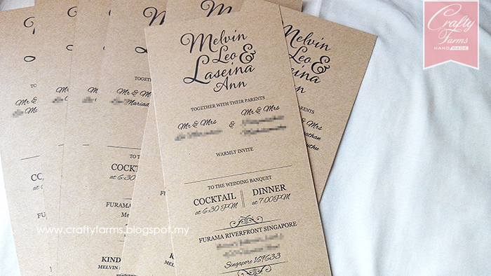 Wedding card malaysia crafty farms handmade rustic brown rustic brown wedding card printing stopboris Image collections