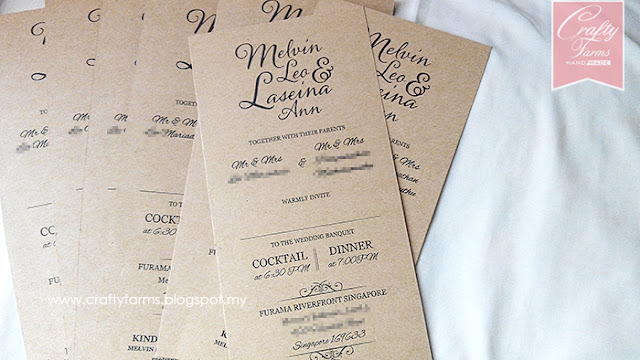 Rustic Brown Wedding Card Printing