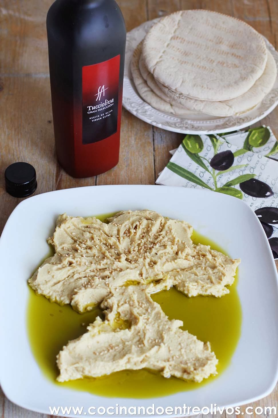 Cocinando entre olivos hummus receta paso a paso for Cocinando entre olivos