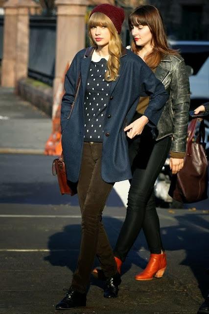 Womens Fashions Street Style Street Washion Winter Fall Women Fashion Taylor Swift