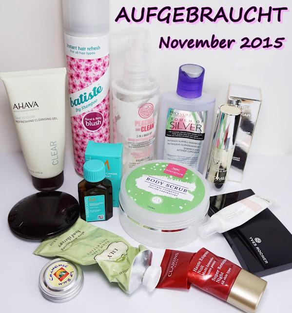 Aufgebrauchte Kosmetik - November 2015