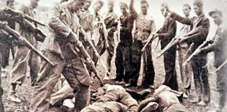 an overview of the german atrocities against mankind during the world war two The united states' entry into world war i came in april 1917, after two and a half years of efforts by  american entry into world war i  german atrocities,.