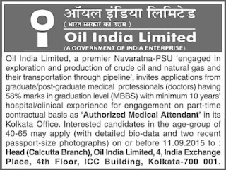 Oil India Limited Authorized Medical Attendant