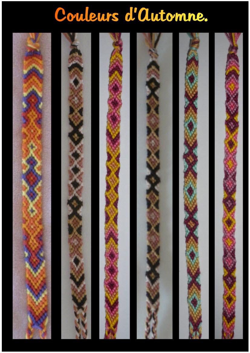Bracelets br siliens les couleurs de l 39 automne adulescence file da - Www filedanstachambre com ...