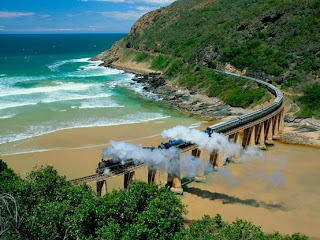 Coast of the Natal province in South Africa
