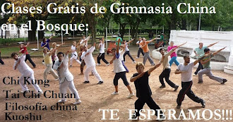 CLASES GRATIS DE GIMNASIA CHINA EN EL BOSQUE