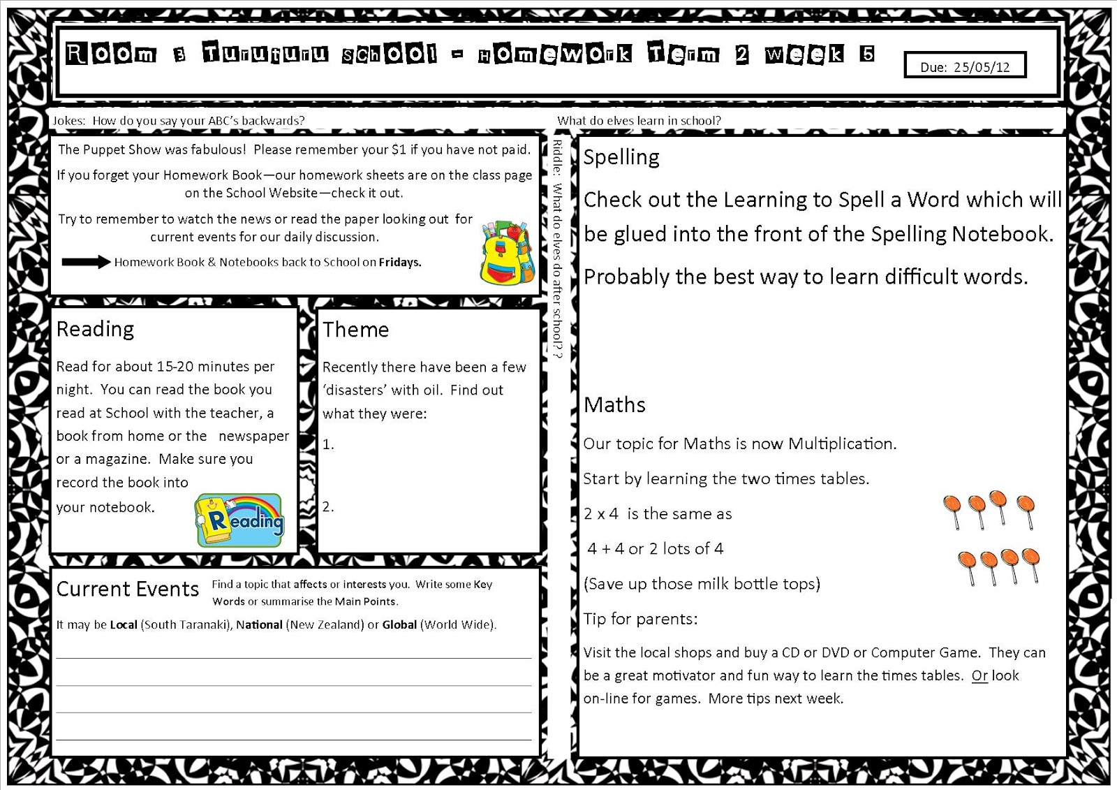 Homework myspace