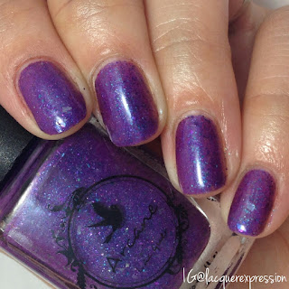 swatch of villain's go nail polish by arcane lacquer