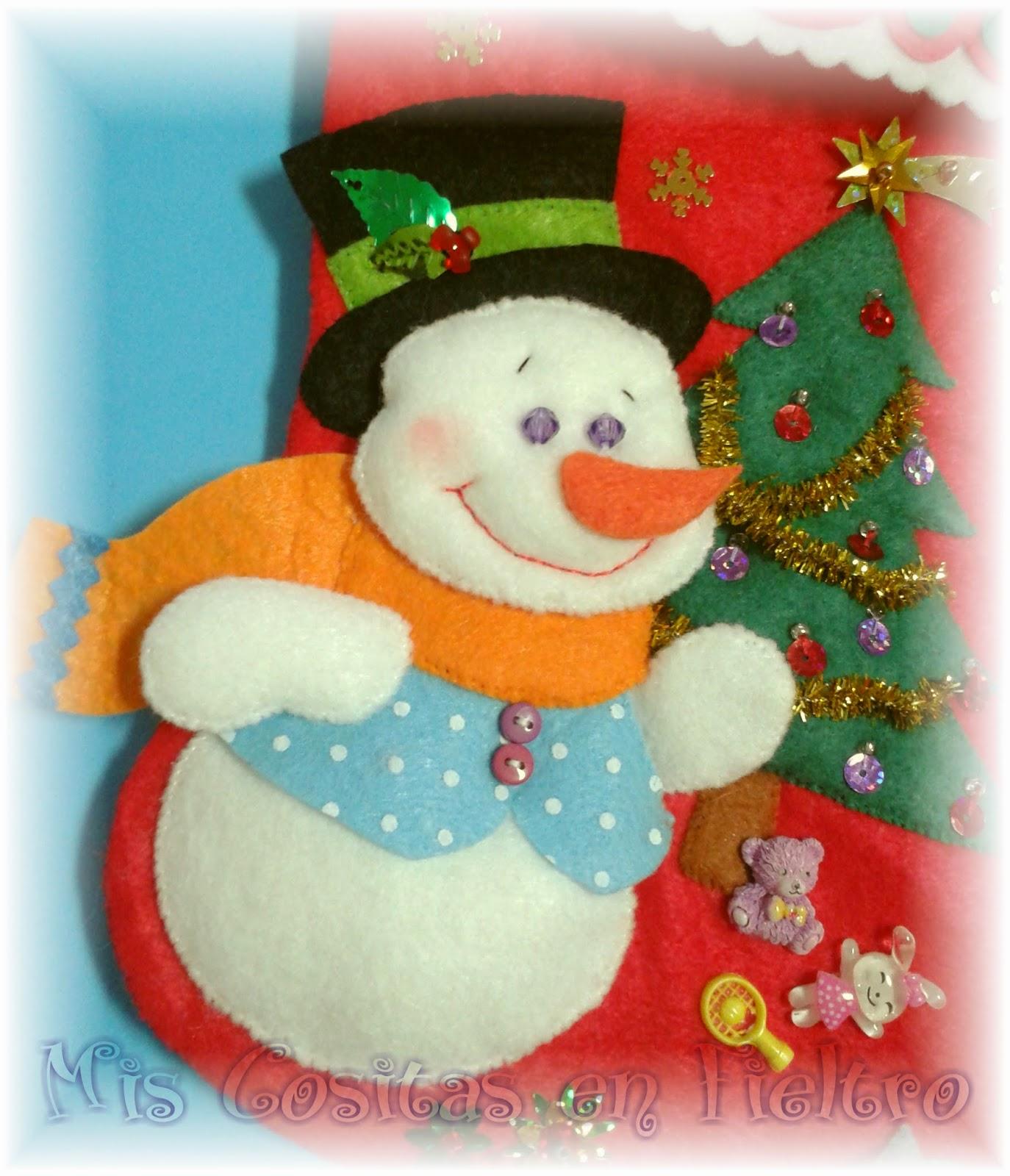 bota de navidad, calcetín de navidad, christmass boot, papá noel, santa, muñeco de nieve, snowman