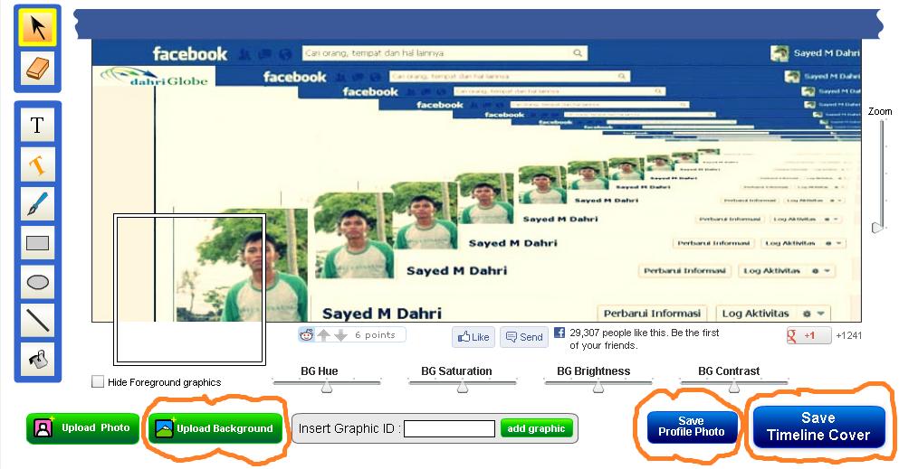 """Profile Foto"""" dan Uplod ke Foto Profil dan Time line Facebook kamu"""