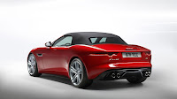 Jaguar F-Type Convertible backside closed top