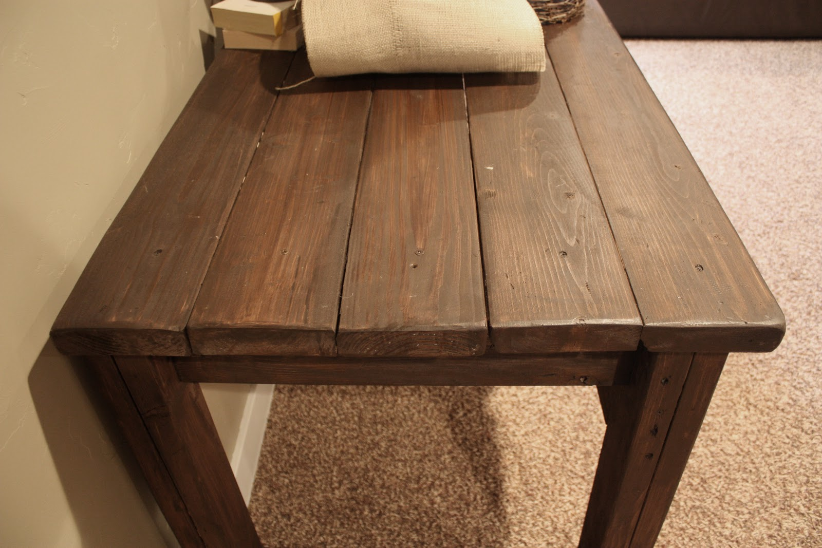 I Am Not Sure How Much This Table Would Have Cost Because I Already Had The  Wood, But It Would Be Easy To Price Out At Loweu0027s Or Home Depot.