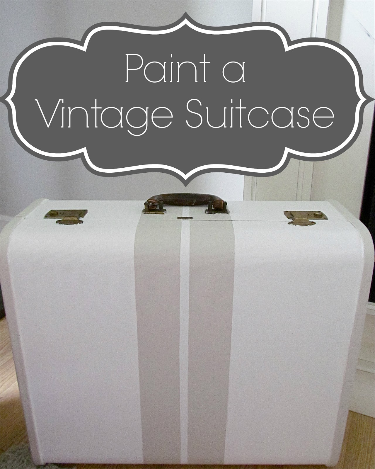 Painting a Vintage Suitcase - Hymns and Verses