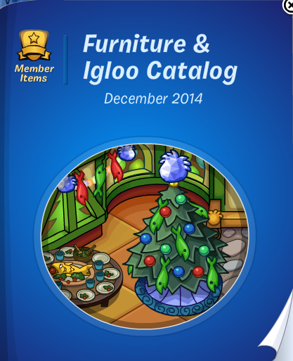 Club Penguin Furniture & Igloo Catalog December 2014 Cheats