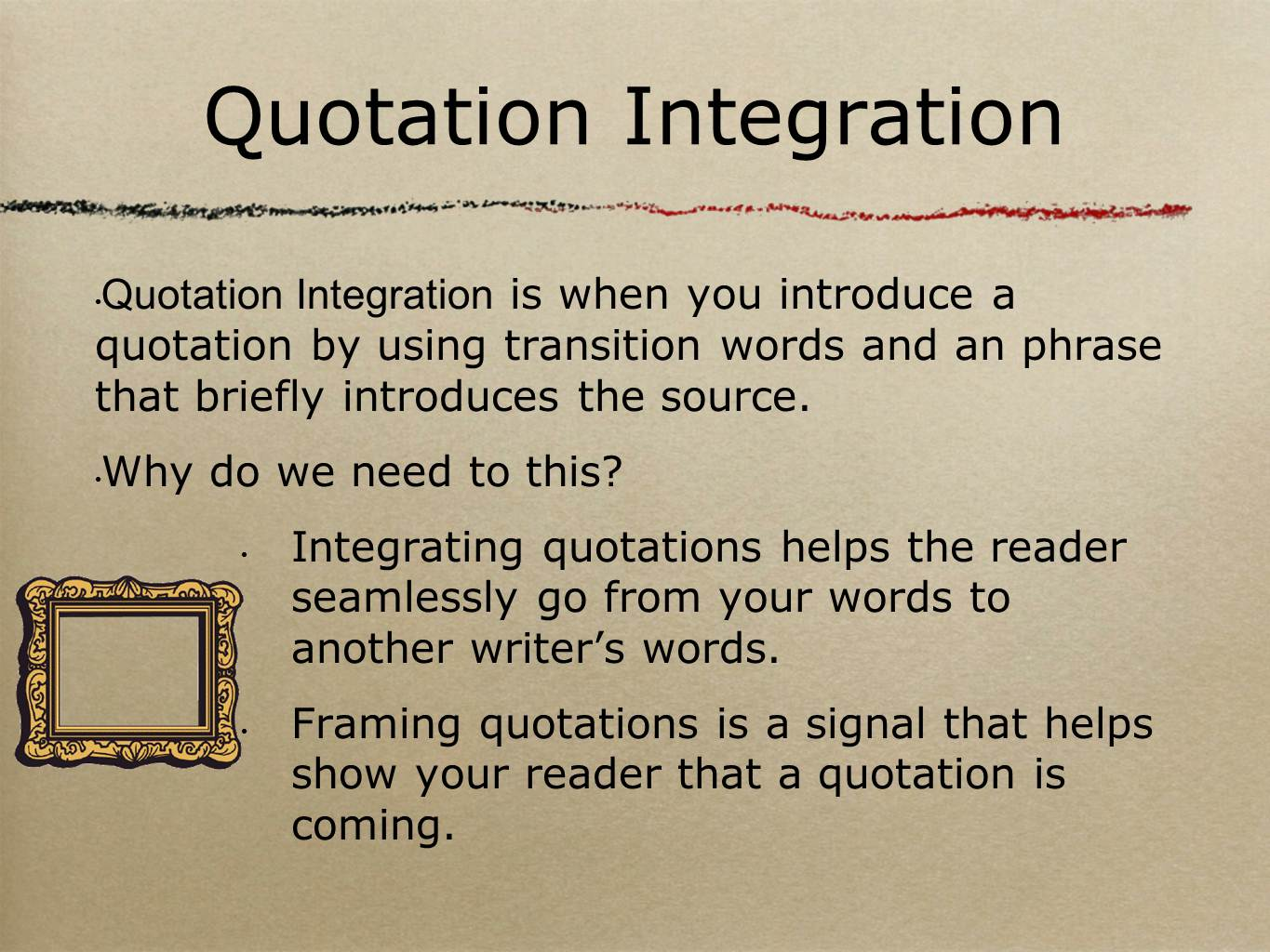 "quote integration in essays Quote integration #1 whole sentence: 1 ""is it not enough that we are torn from our country and friends, to toil for your luxury and lust of gain."