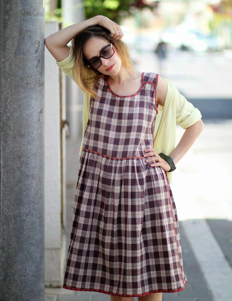 check print, dresses, hasbeen, fashionblog ,שמלה, אופנה,בלוגאופנה