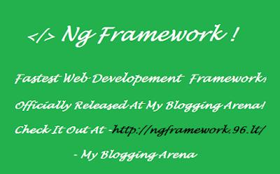 Releasing NgFramework !
