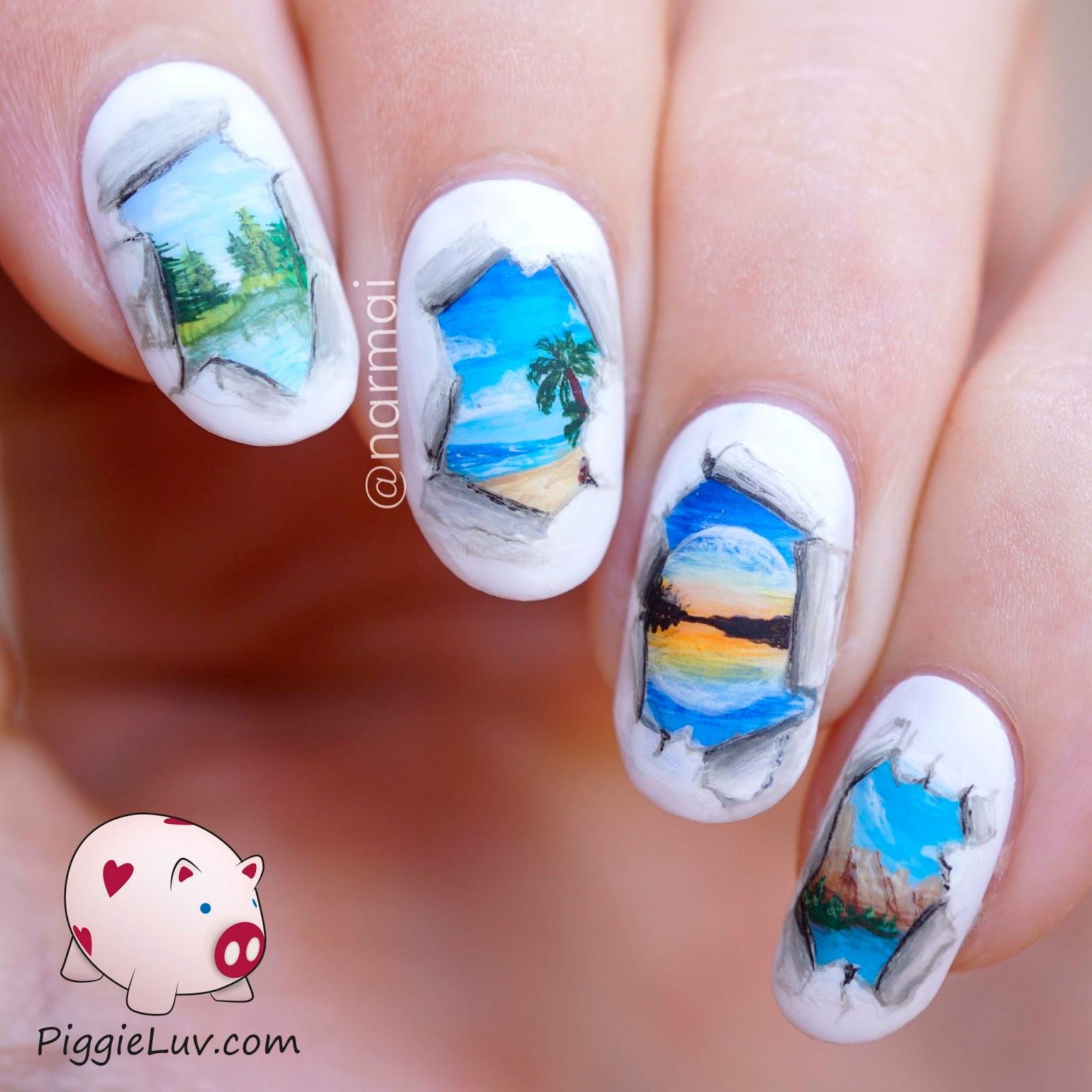Pics Of Nail Art: PiggieLuv: Tear In The Fabric Of Reality, Freehand Nail Art