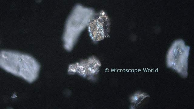 Microscopy image of gold at 200x.