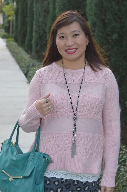 Loft stripe cable sweater, Fashion over 40