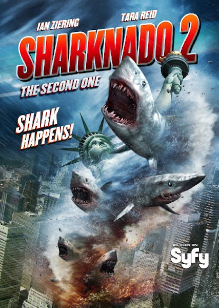 Poster of Sharknado 2 The Second One 2014 UnRated 720p BRRip Dual Audio