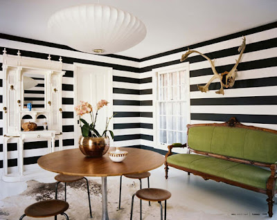 Lush fab glam blogazine black and white stripes from the - Black and white striped wall ...