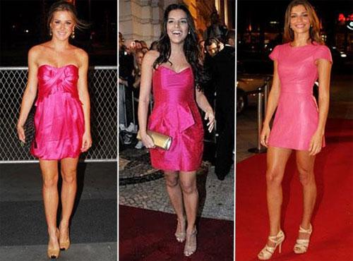 Acessorios para vestido rosa longo