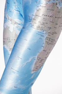 Recycled fashion travel inspired vintage map clothing pre owned black milk world map leggings gumiabroncs Choice Image