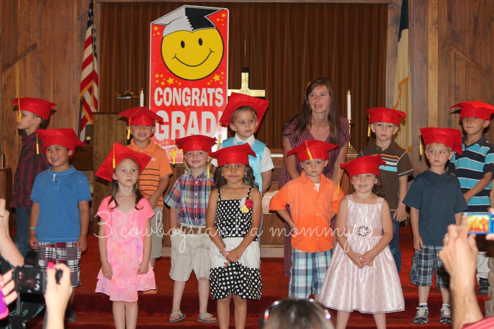 3 cowboys and a mommy preschool graduation round one