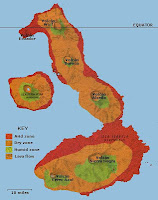Maps of Isabela Island, Galapagos