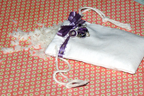 DIY Wedding Rice Favor Bag