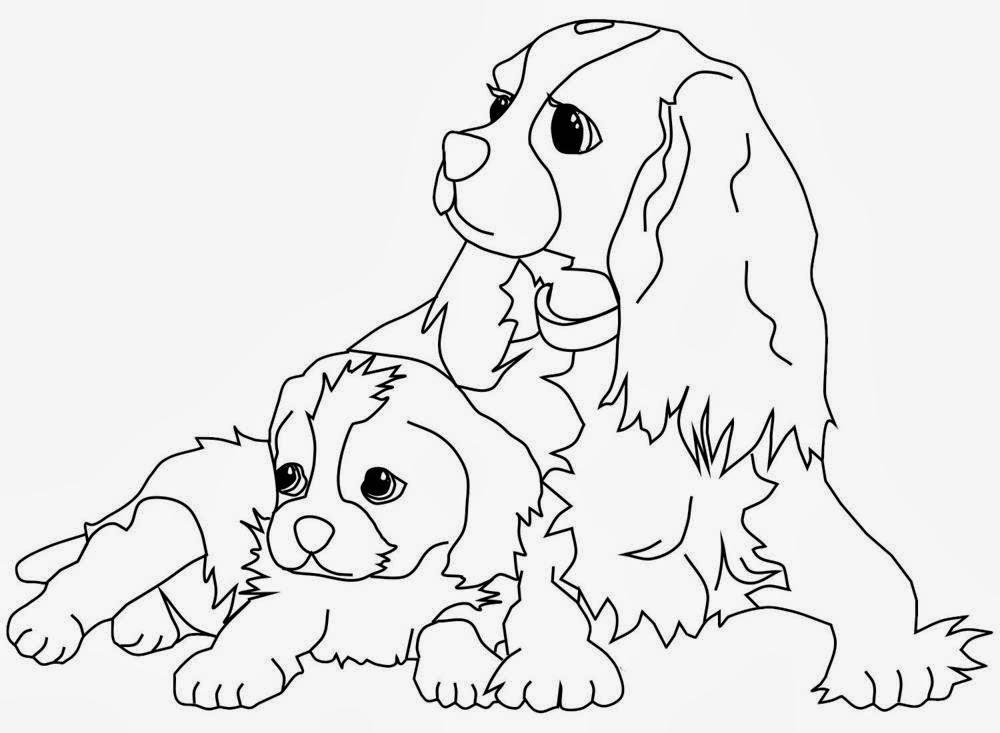 Encantador Dibujos Para Colorear Perros Imprimibles Modelo - Dibujos ...