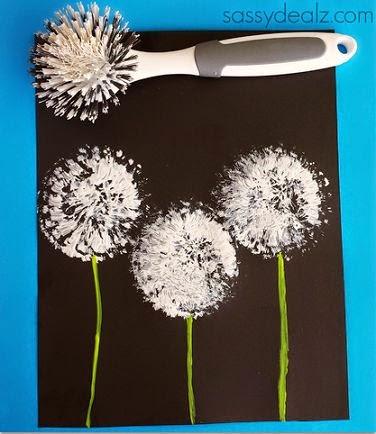 Onderwijs en zo voort 0563 bloemen schilderen - Pusteblume basteln ...