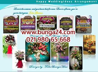 Bunga Ucapan Happy Wedding Jakarta