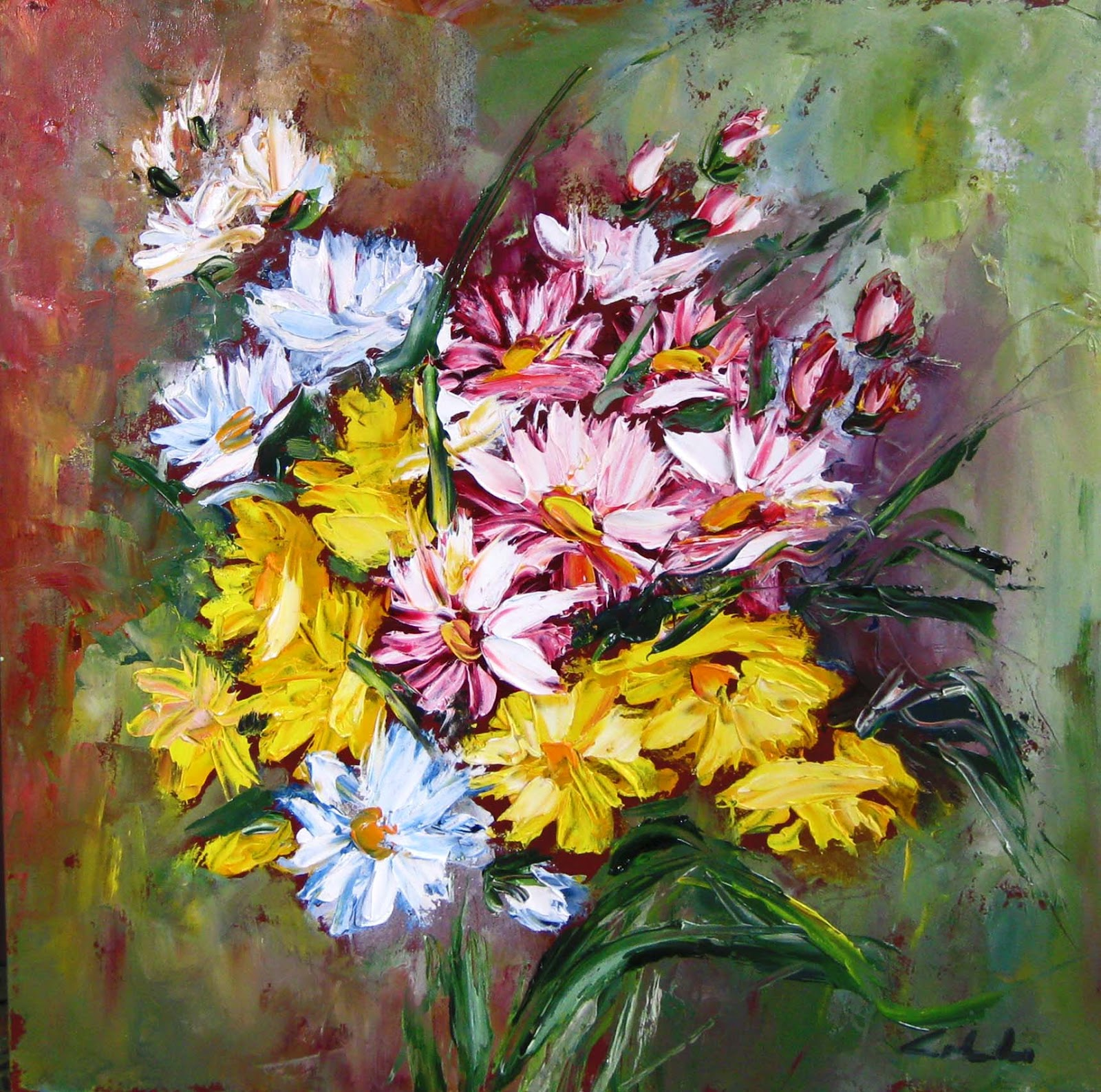 Artecarlacolombo collettiva flowers ad ivrea for Quadri di fiori ad olio
