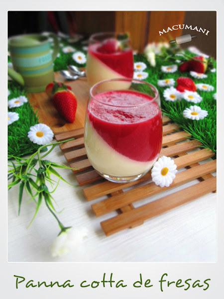 Panna cotta de fresas . Recetas de Macumani