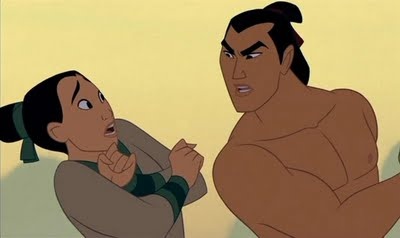 He may be a little scary but what a hunk Mulan Shang Training