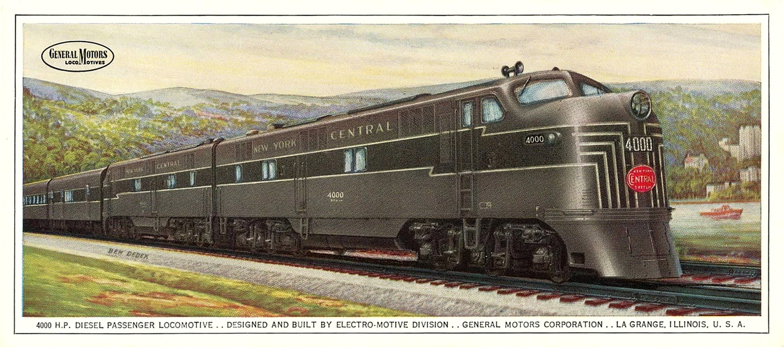 Transpress Nz General Motors E7 Locomotive Artwork