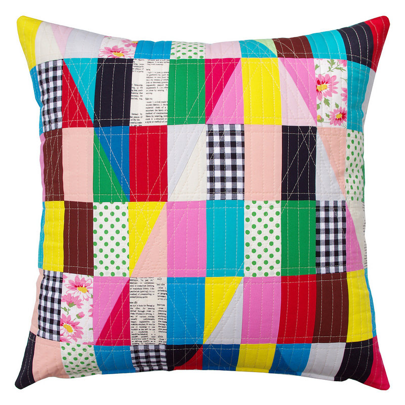 Modern Triangles - Patchwork Pillow by Red Pepper Quilts