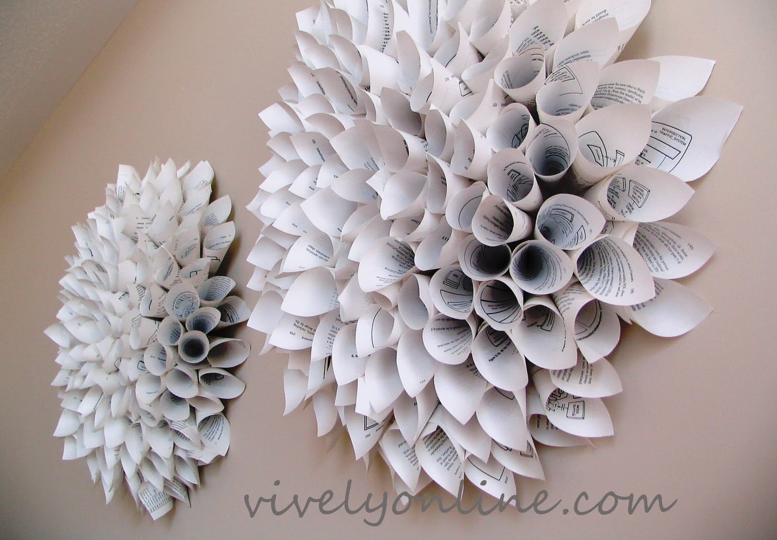 Wall Decoration Paper Flowers : Clever nest january