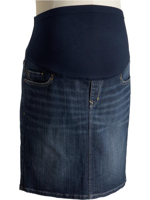modest proposals plus size maternity jean skirt