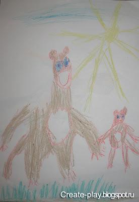 рисунок медведи