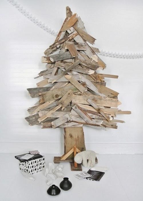 Decoraci n f cil arboles de navidad con materiales ecologicos - Arboles de navidad de diferentes materiales ...