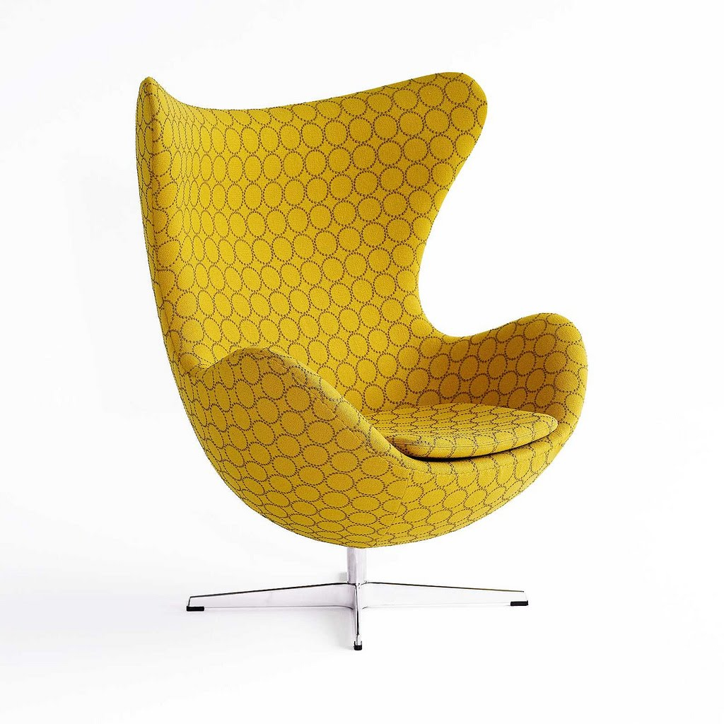 Nami interiors new versions of the egg chair for Egg chair jacobsen
