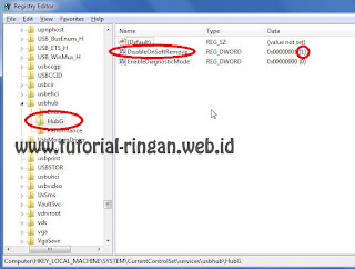 Hasil Edit Registri